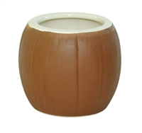 SMALL CERAMIC COCONUT MUG /6 WHOLESALE