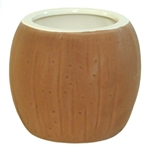 LARGE CERAMIC COCONUT MUG /6 WHOLESALE