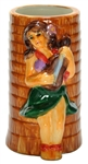 HULA GIRL PALM TREE MUG - BOX OF 6